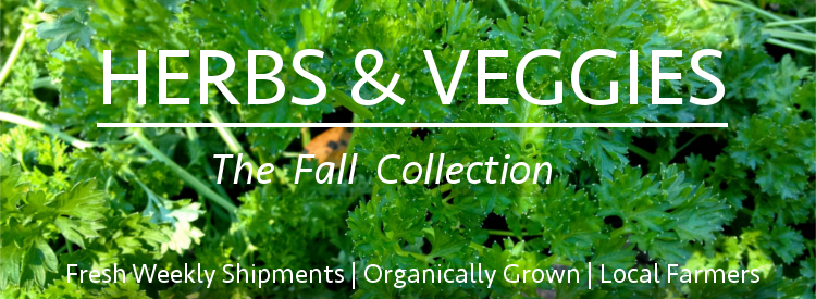 Herbs Veggies Banner Fall